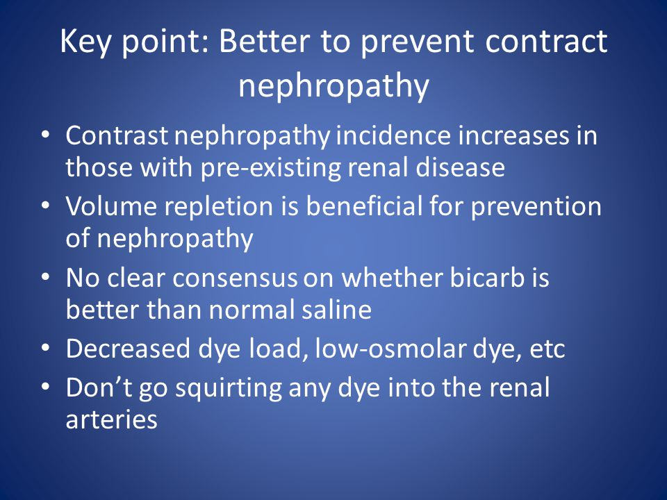 Key point: Better to prevent contract nephropathy