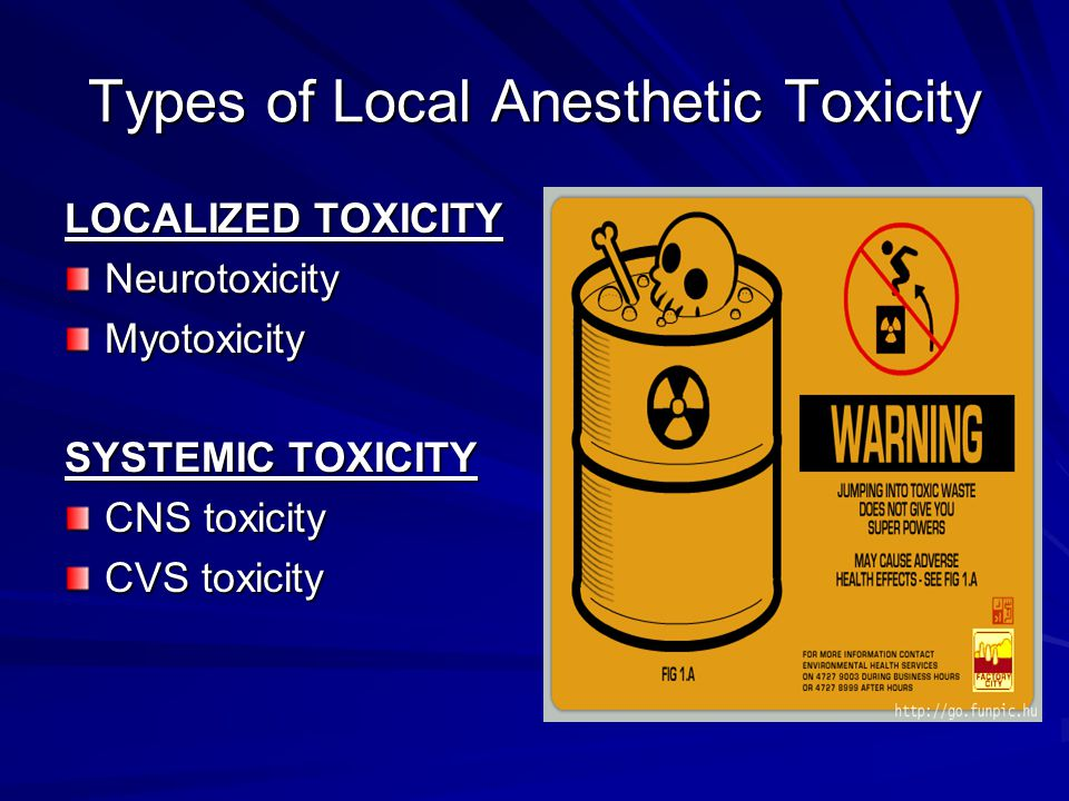 Types of Local Anesthetic Toxicity