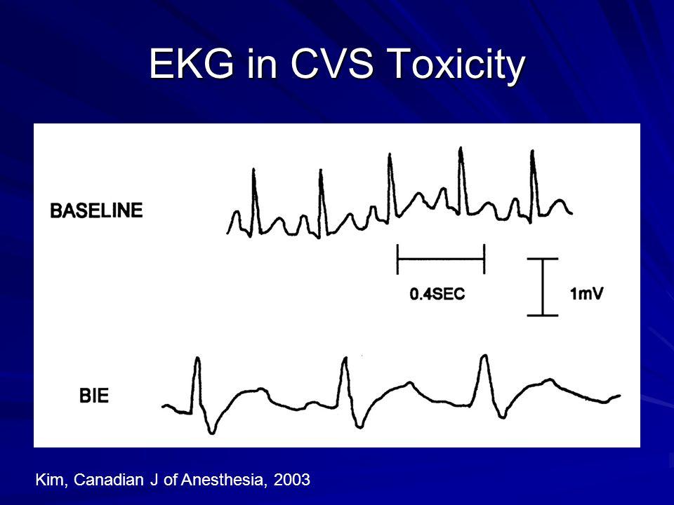EKG in CVS Toxicity Kim, Canadian J of Anesthesia, 2003