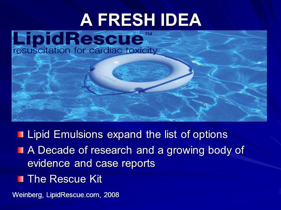 A FRESH IDEA Lipid Emulsions expand the list of options