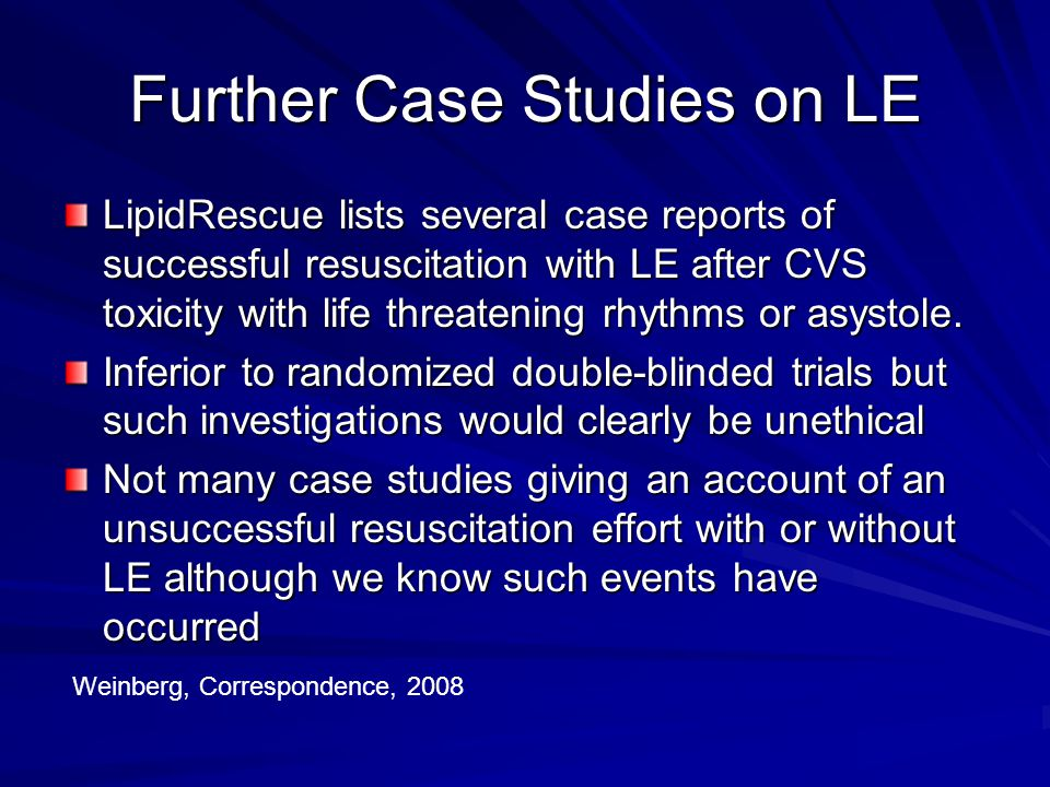 Further Case Studies on LE