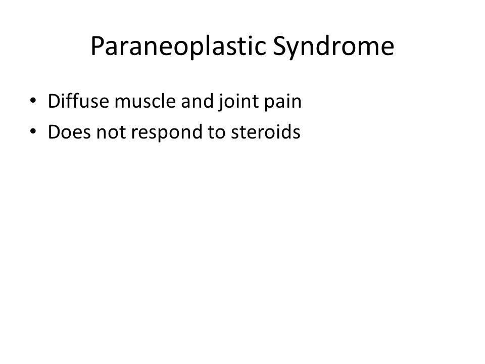Paraneoplastic Syndrome