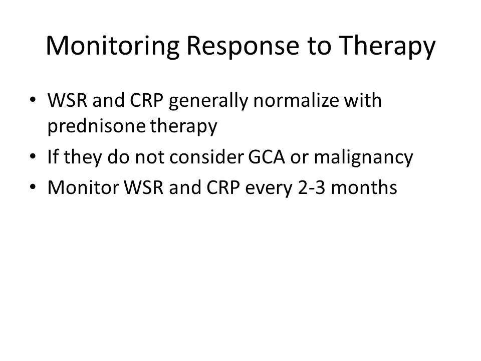 Monitoring Response to Therapy