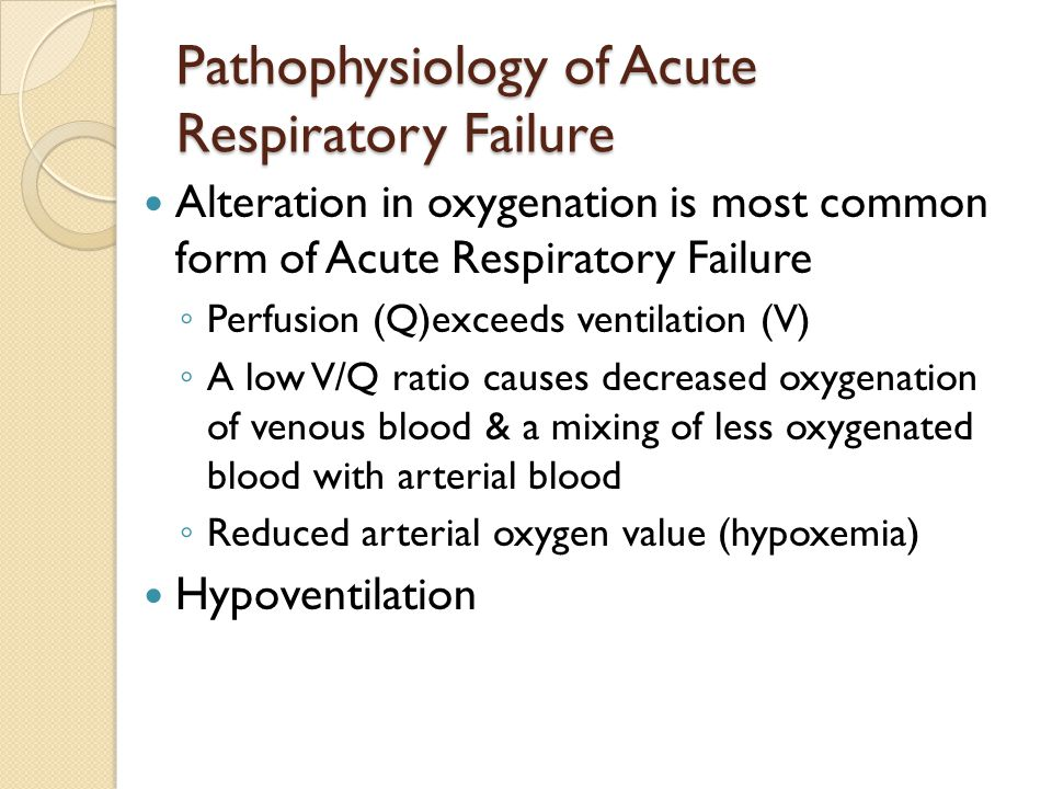 Pathophysiology of Acute Respiratory Failure