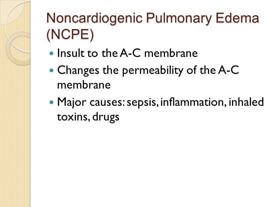 Noncardiogenic Pulmonary Edema (NCPE)
