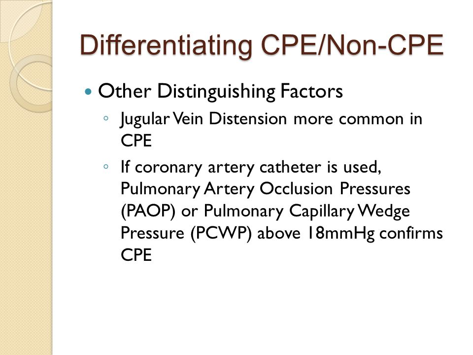 Differentiating CPE/Non-CPE