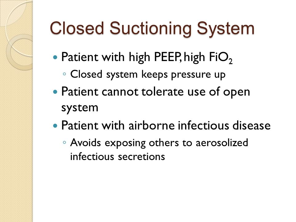 Closed Suctioning System
