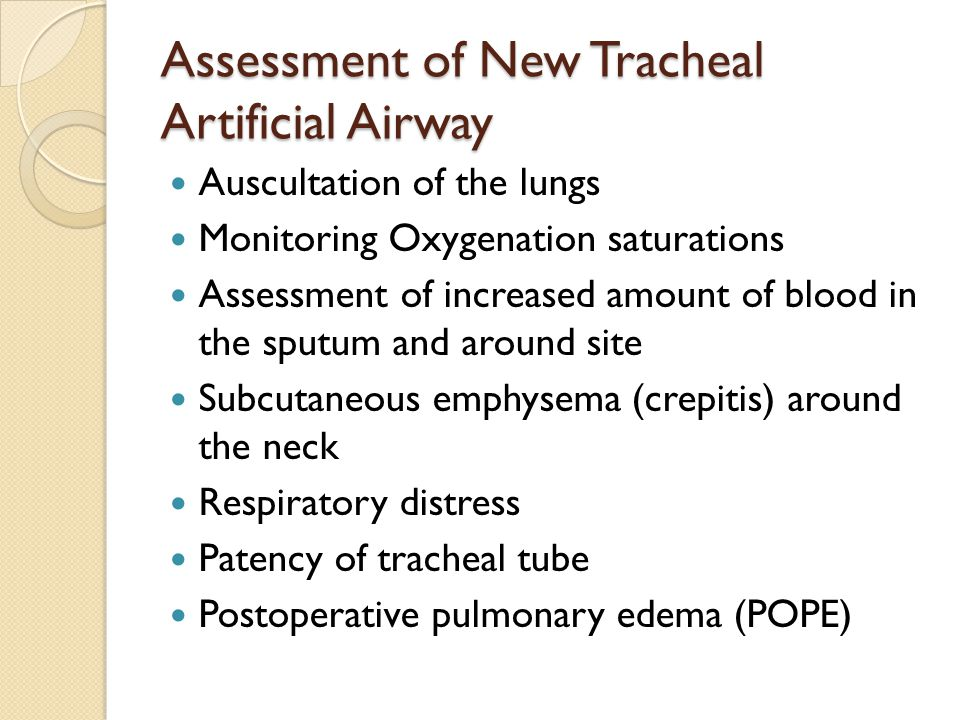 Assessment of New Tracheal Artificial Airway