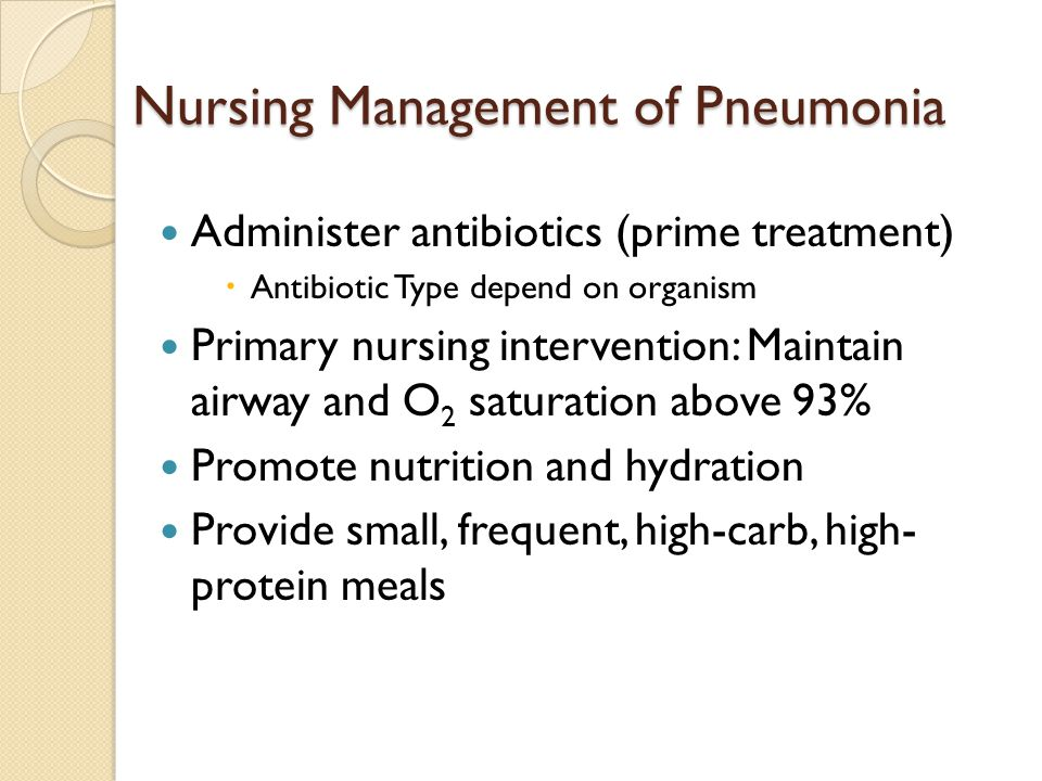 Nursing Management of Pneumonia