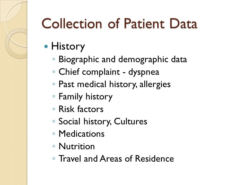 Collection of Patient Data