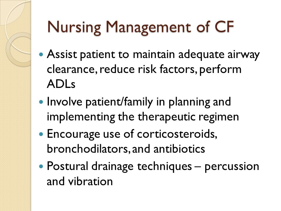 Nursing Management of CF