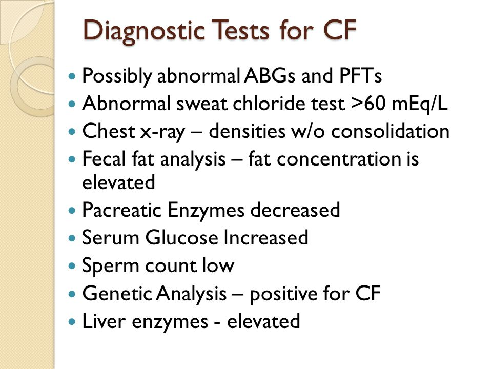 Diagnostic Tests for CF