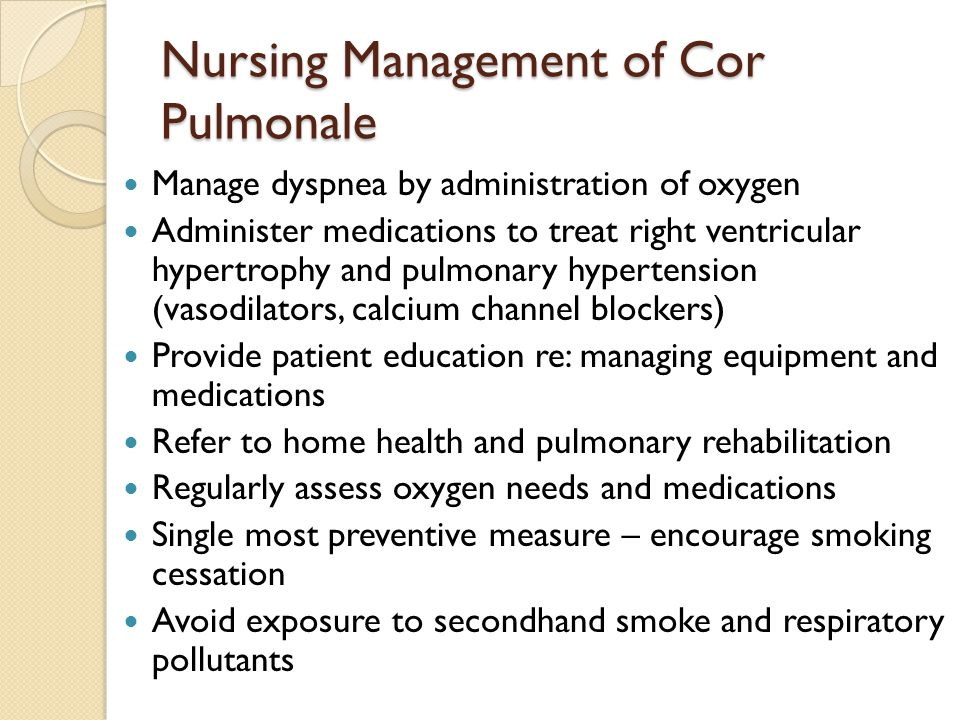 Nursing Management of Cor Pulmonale