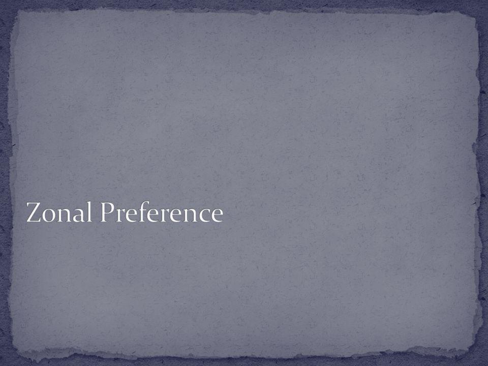Zonal Preference