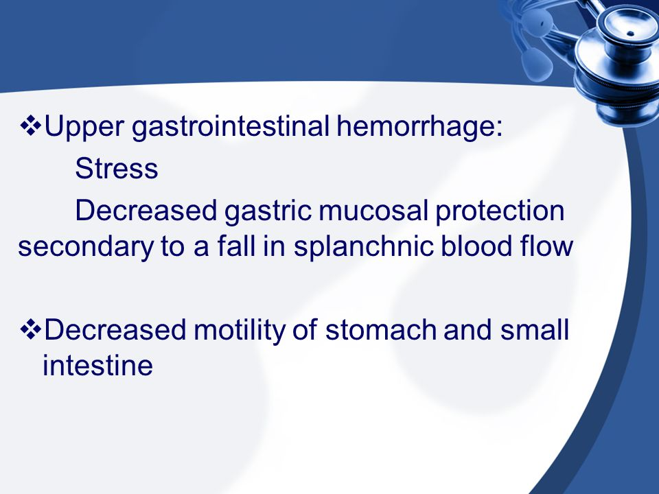 Upper gastrointestinal hemorrhage: