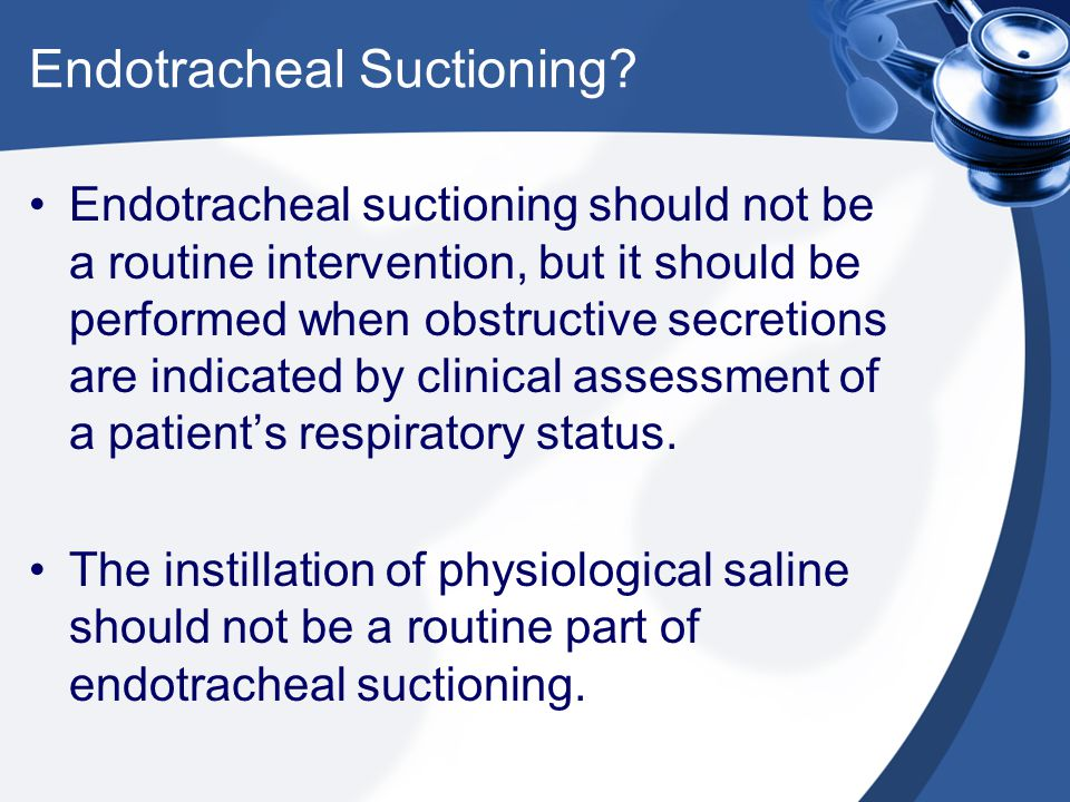 Endotracheal Suctioning