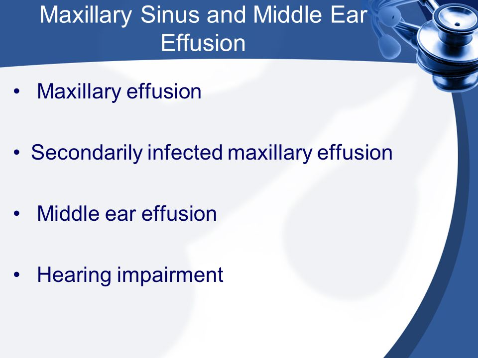 Maxillary Sinus and Middle Ear Effusion