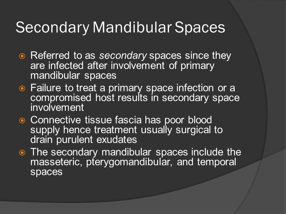 Secondary Mandibular Spaces