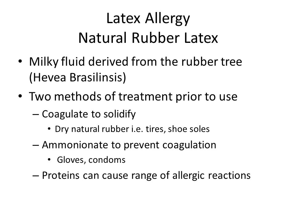 Latex Allergy Natural Rubber Latex