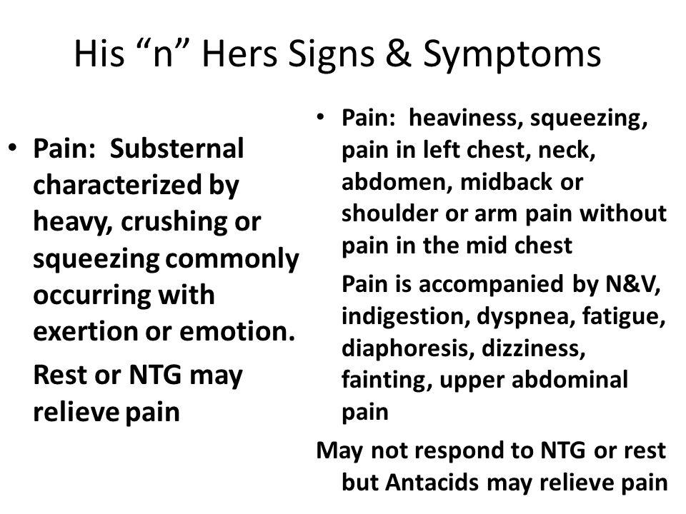His n Hers Signs & Symptoms