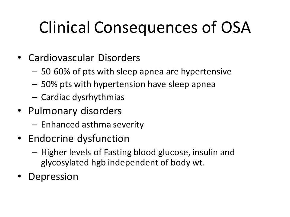 Clinical Consequences of OSA