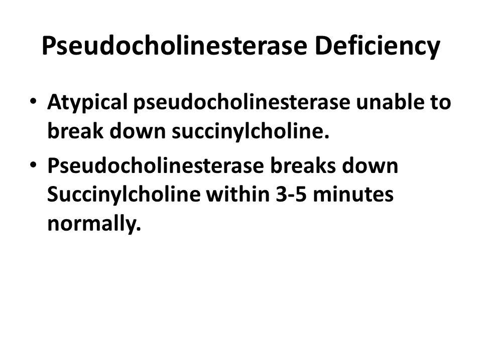 Pseudocholinesterase Deficiency