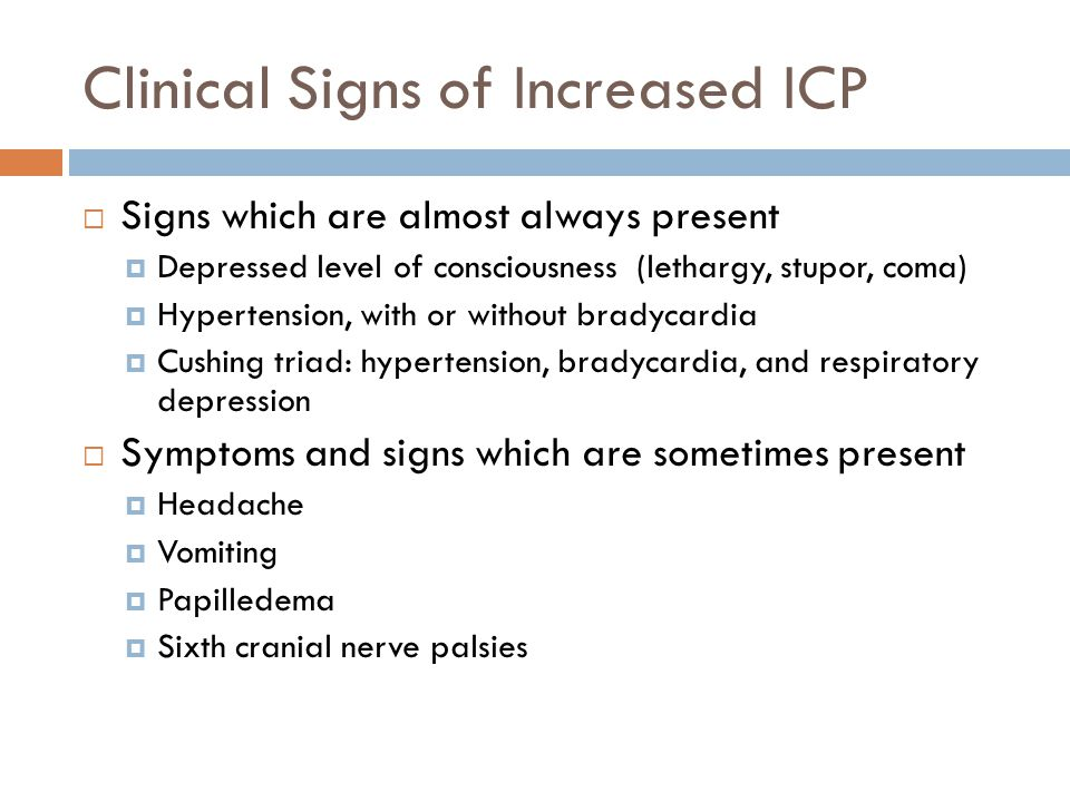 Clinical Signs of Increased ICP