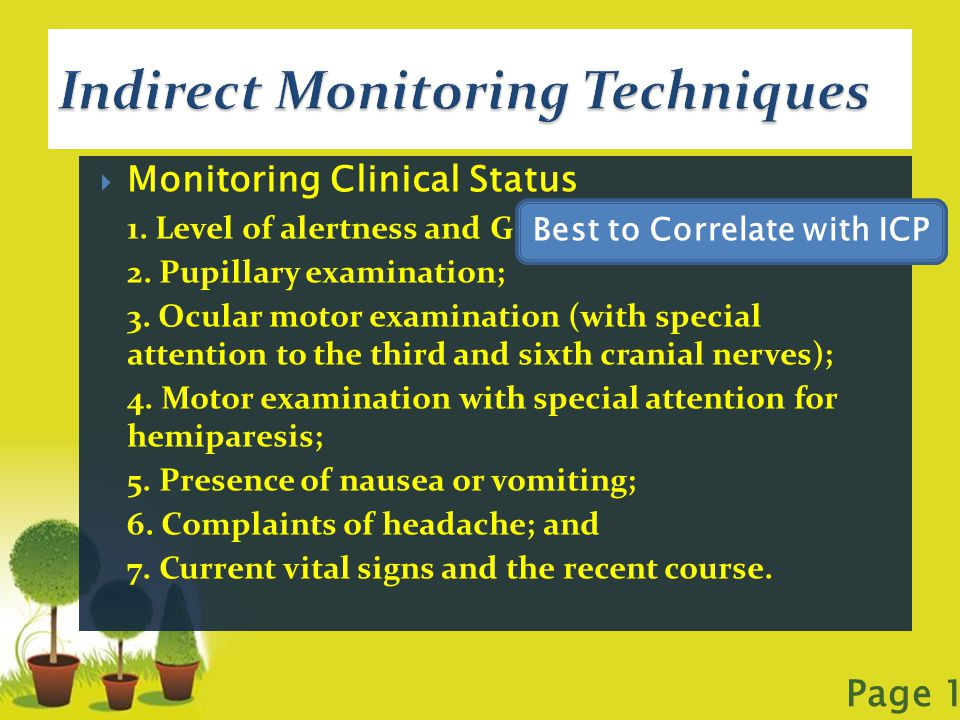 Indirect Monitoring Techniques
