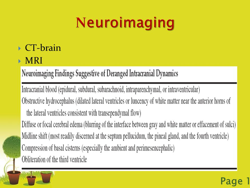 Neuroimaging CT-brain MRI