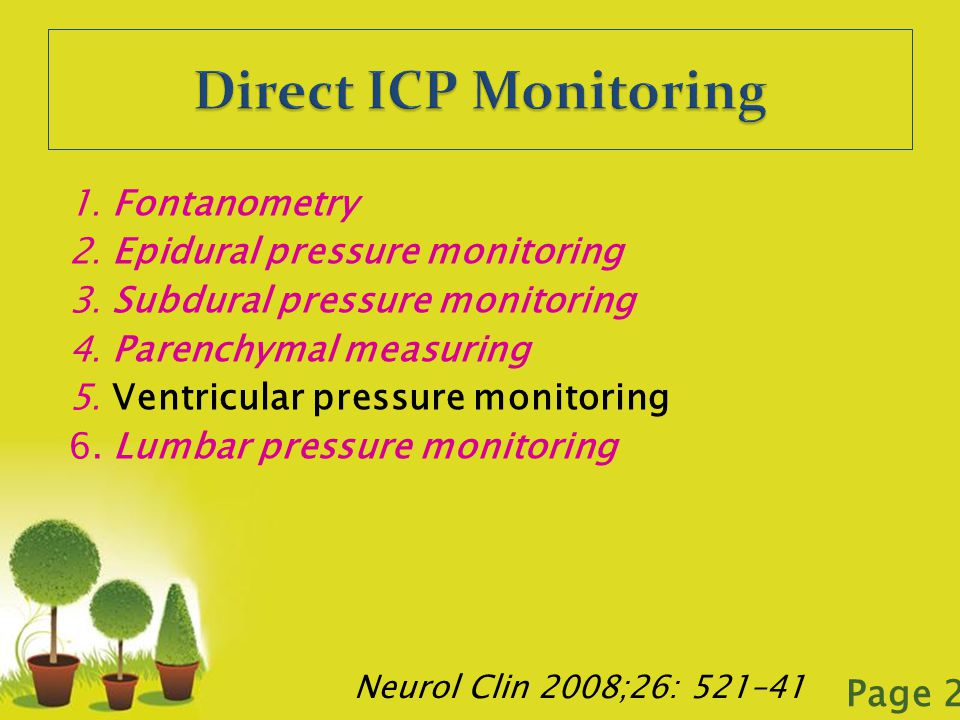 Direct ICP Monitoring