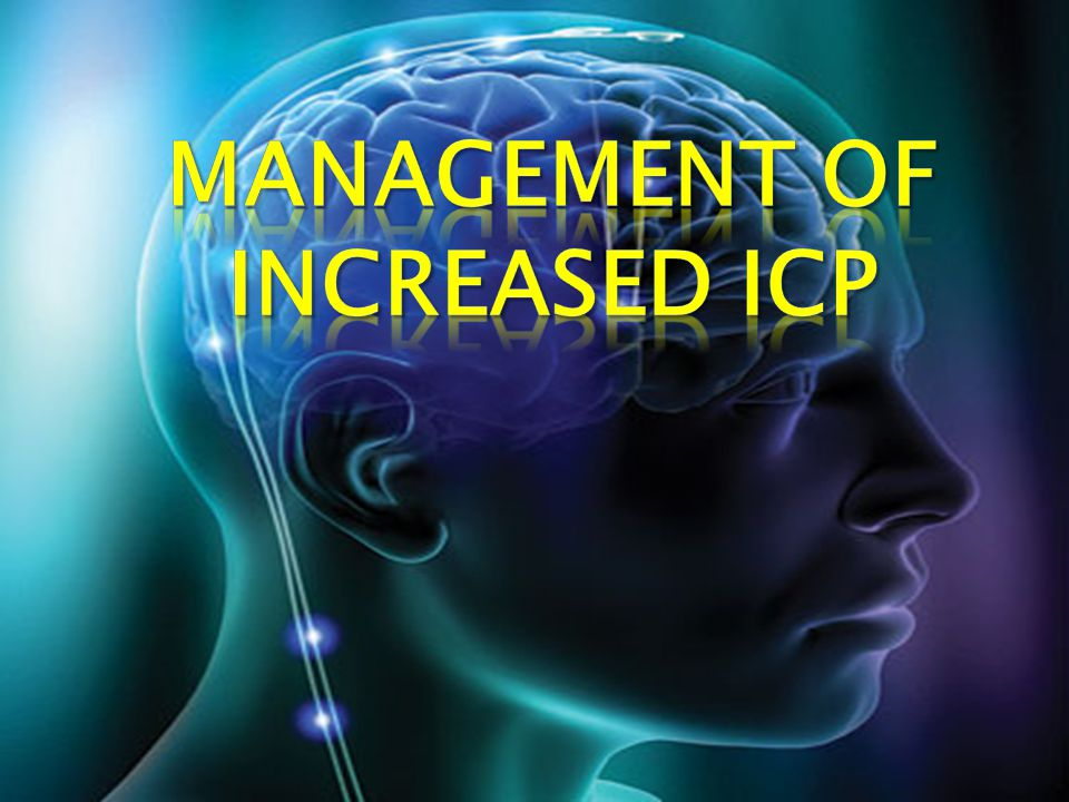 management of increased ICp
