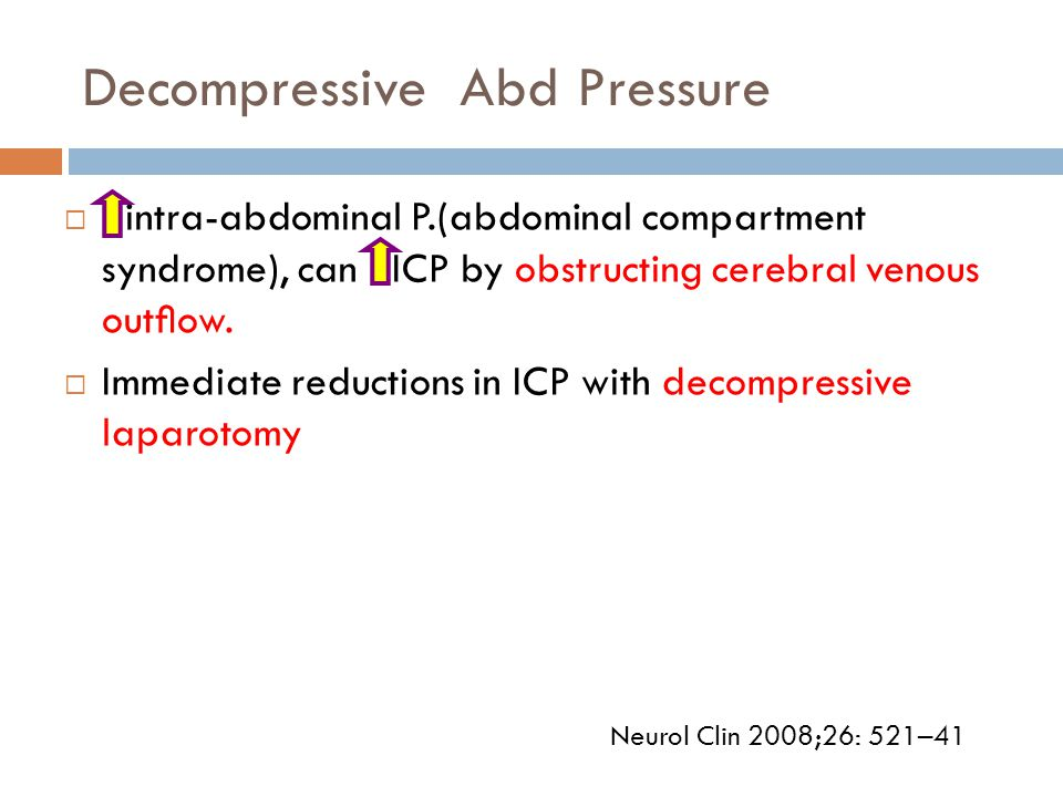 Decompressive Abd Pressure