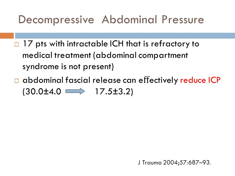 Decompressive Abdominal Pressure