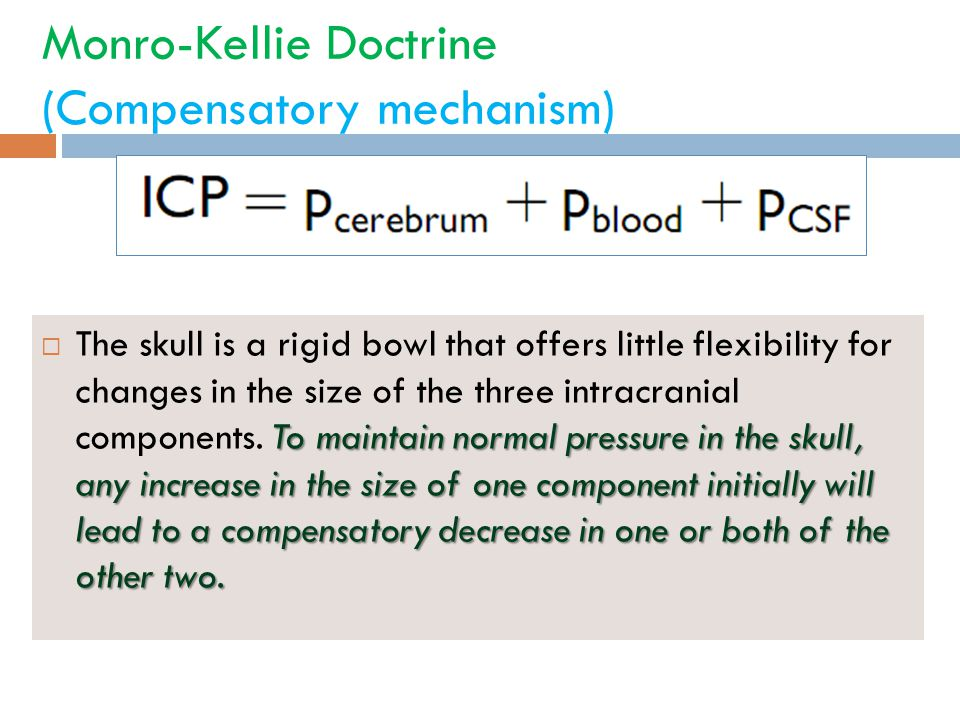 Monro-Kellie Doctrine (Compensatory mechanism)