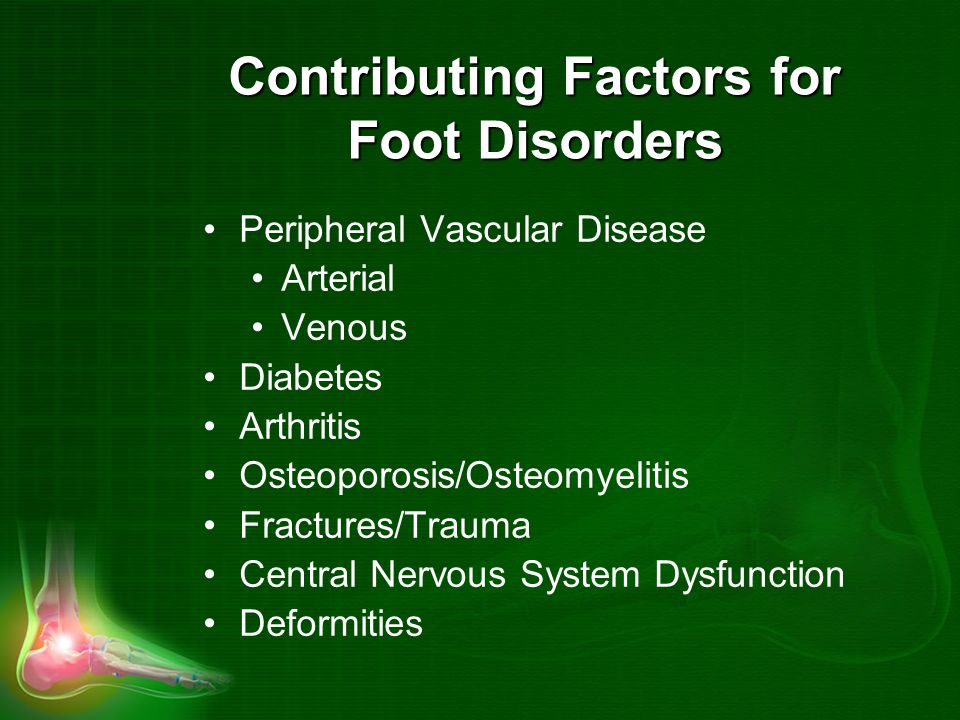 Contributing Factors for Foot Disorders