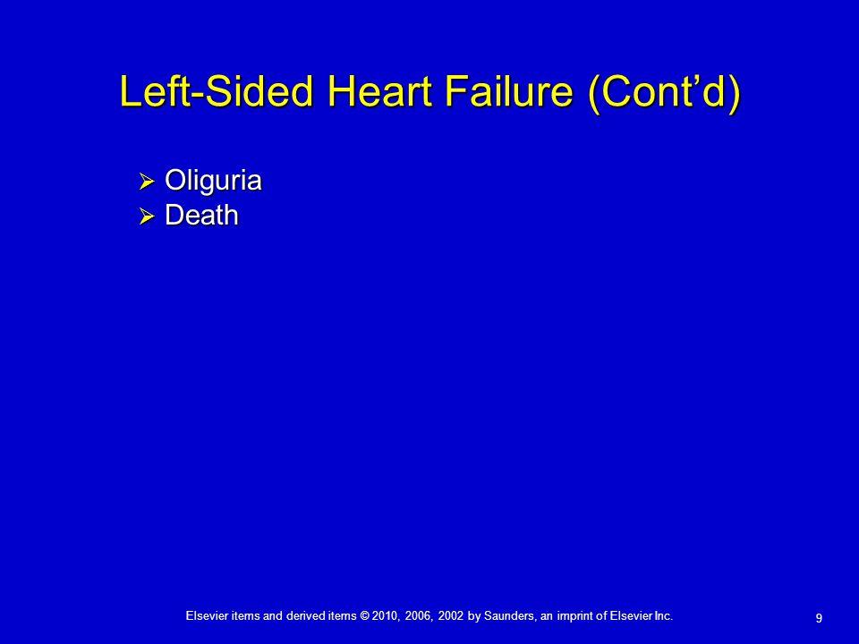 Left-Sided Heart Failure (Cont'd)