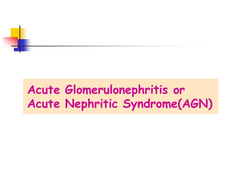 Acute Glomerulonephritis or