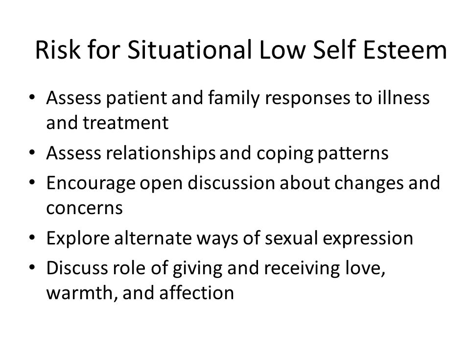Risk for Situational Low Self Esteem