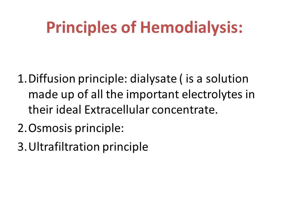 Principles of Hemodialysis: