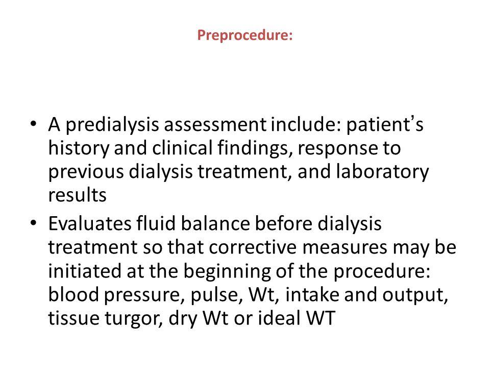 Preprocedure: