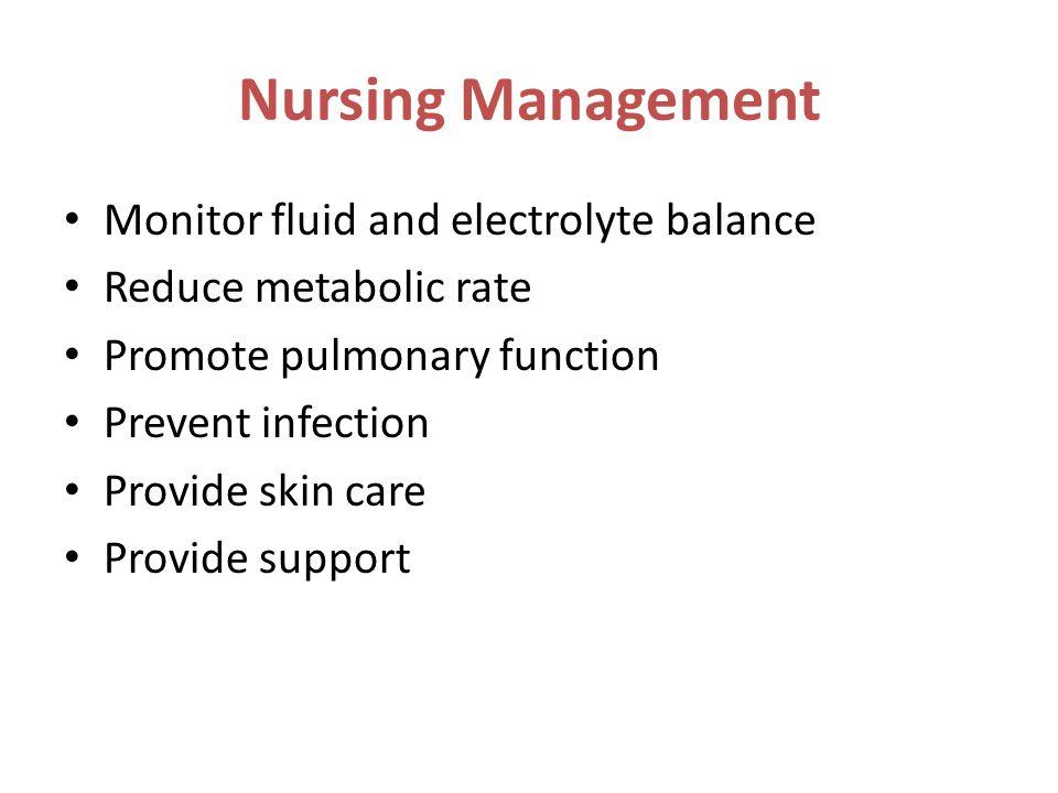 Nursing Management Monitor fluid and electrolyte balance