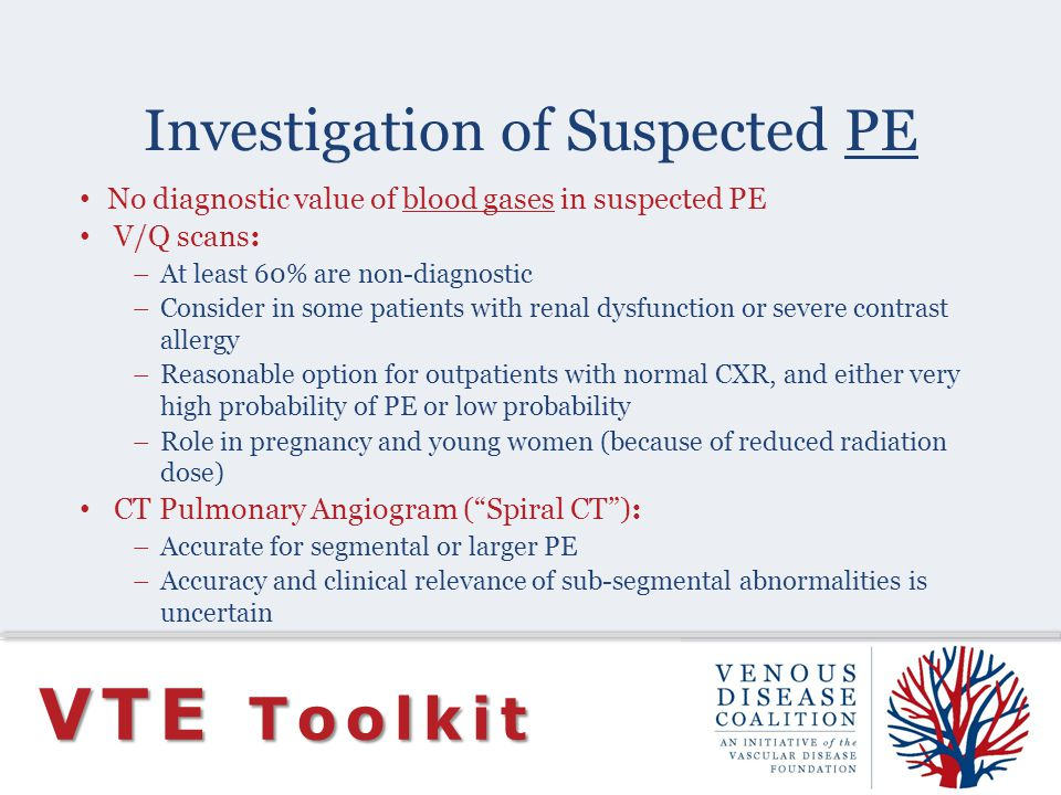 Investigation of Suspected PE