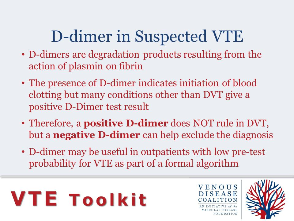 D-dimer in Suspected VTE