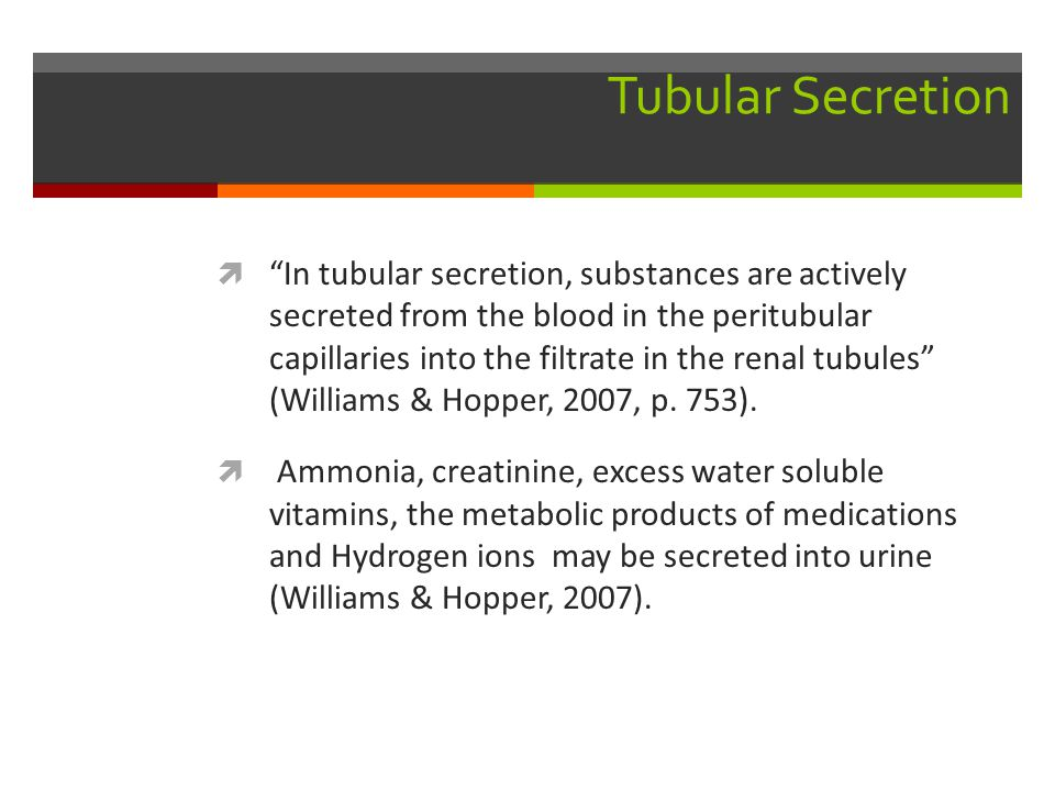 Tubular Secretion