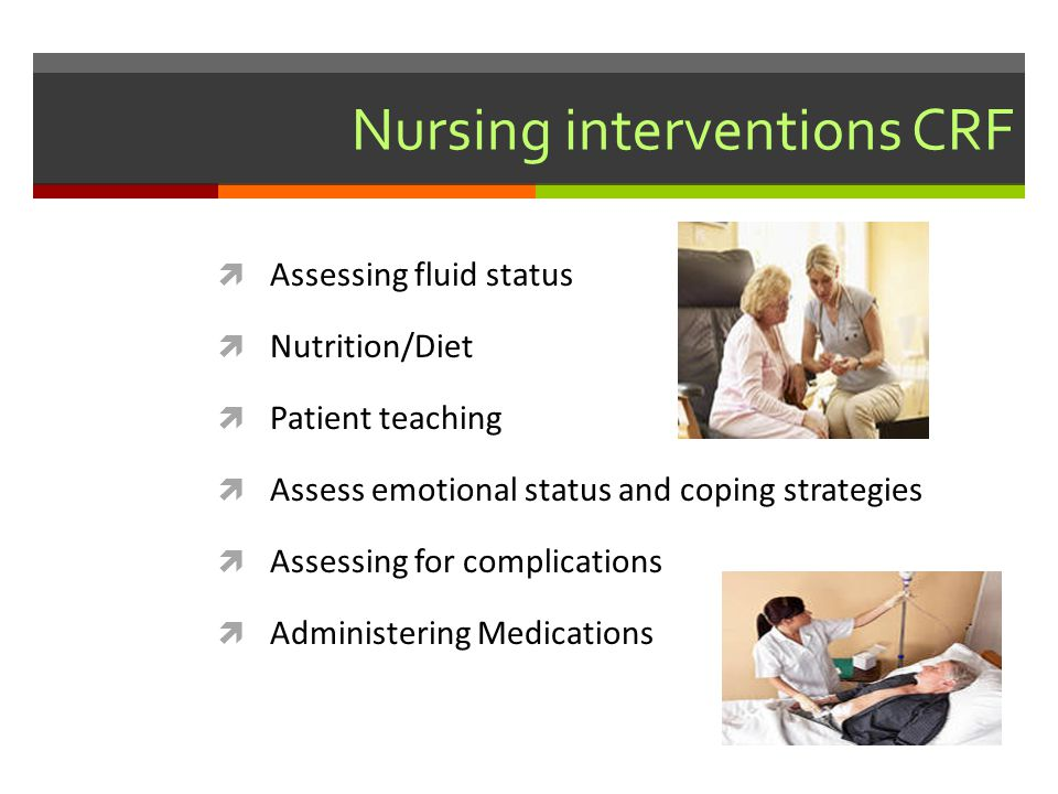 Nursing interventions CRF