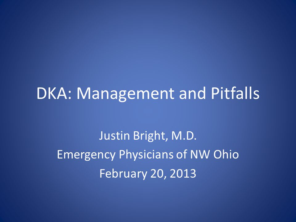 DKA: Management and Pitfalls