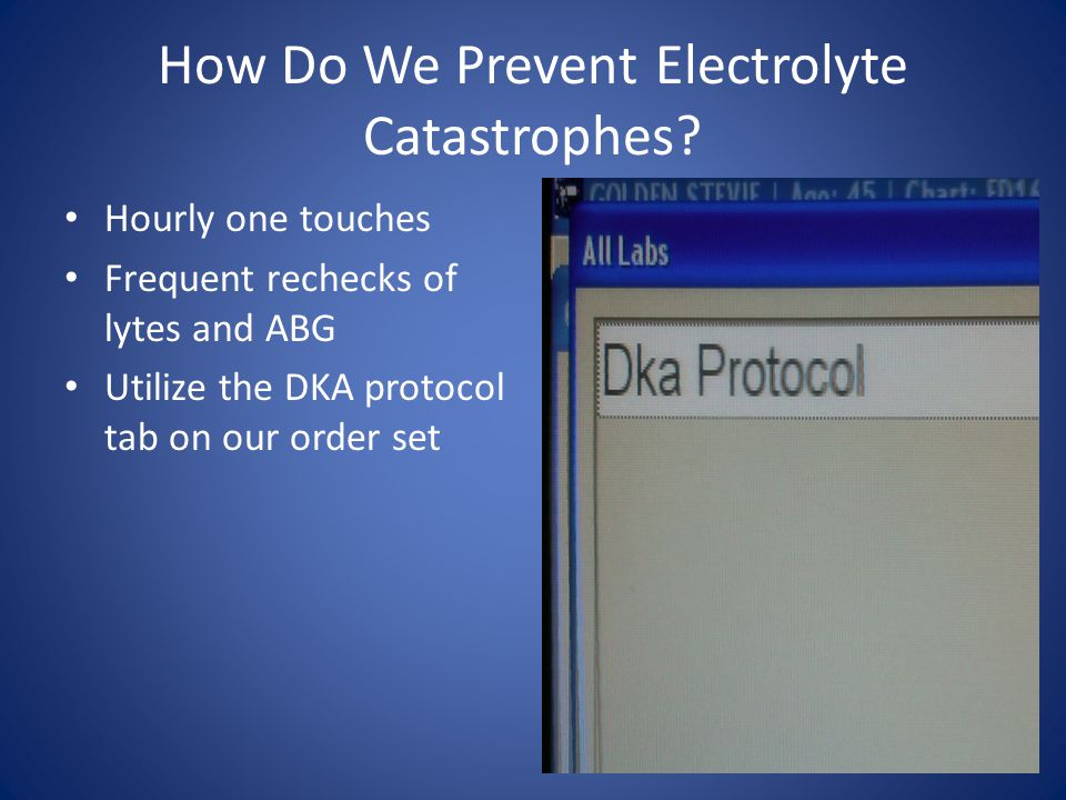 How Do We Prevent Electrolyte Catastrophes