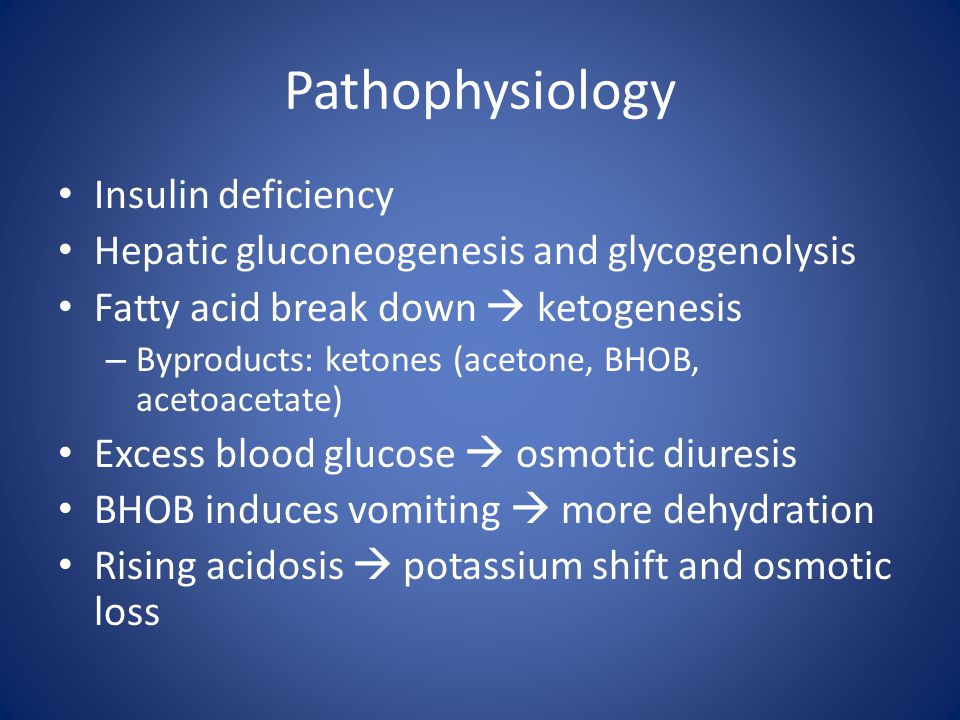 Pathophysiology Insulin deficiency