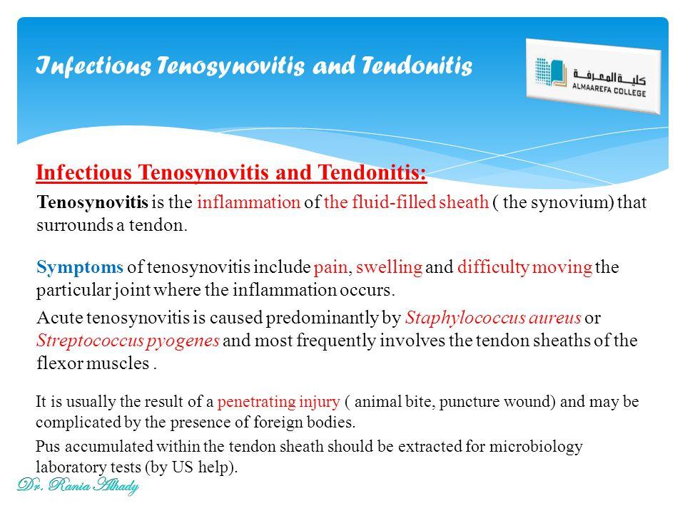Infectious Tenosynovitis and Tendonitis