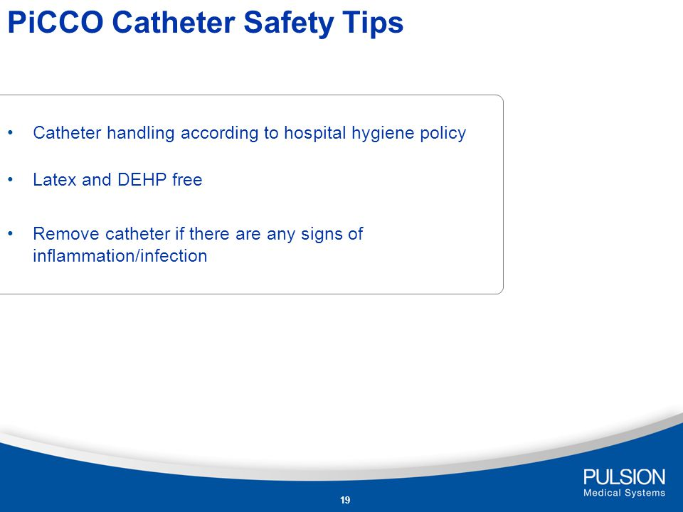 PiCCO Catheter Safety Tips